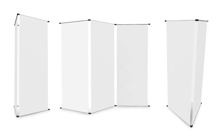 retail display: blank banner stand display