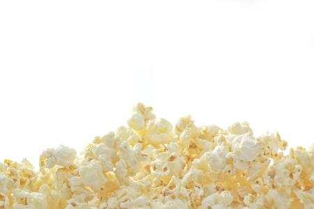 popcorn: Popcorn isolato su bianco Archivio Fotografico