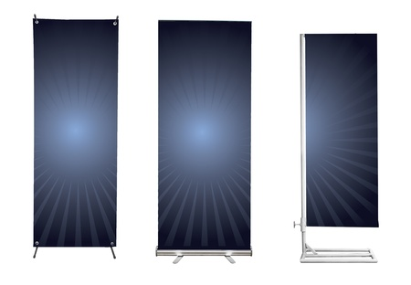 banner stand display Stock Photo - 11997800