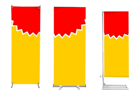 banner stand display Stock Photo - 11997797