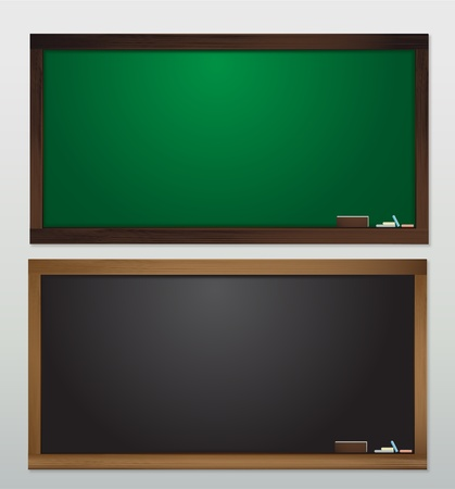 Blank Blackboard Vector template for design work Vector