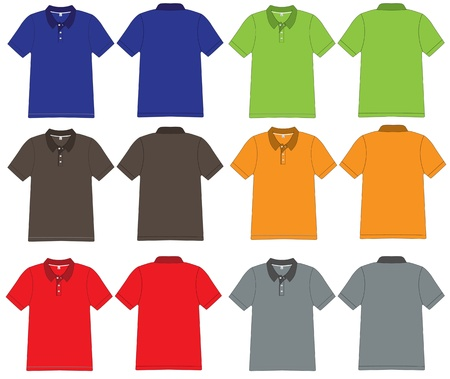 sleeved: polo shirt design Vector template  Illustration