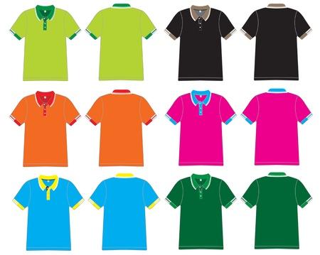 in shirt: dise�o de la camisa de polo Vector plantilla Vectores