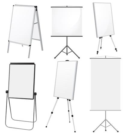 Blank Promotion Stand set  Vector template Vector