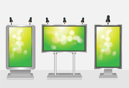 Blank display, billboard Vector set   Vector