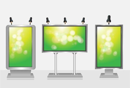 Blank display, billboard Vector set   Vector