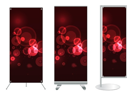 Set of banner stand display with identity background ready for use  Vector template for design work  Stock Vector - 12882383