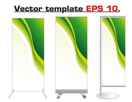 Set of banner stand display with identity background ready for use  Vector template for design work