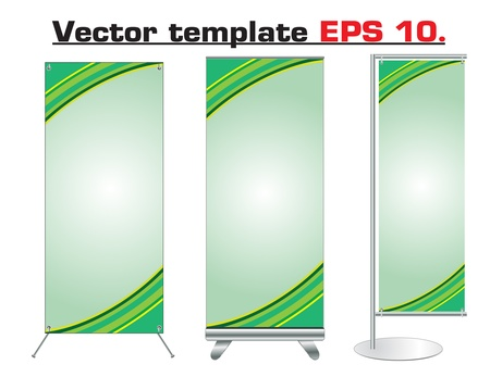 vertical banner: Set of banner stand display with identity background ready for use  Vector template for design work