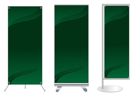 kakemono: Set of banner stand display with identity background ready for use  Vector template for design work
