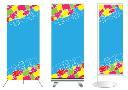 Set of banner stand display with identity background ready for use  Vector template for design work  Stock Vector - 12866642