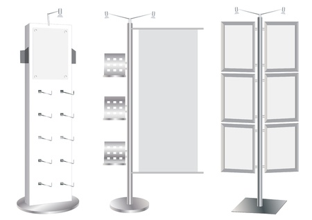 Blank Promotion Stand set vektor mall