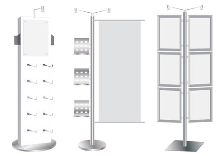 Blank Werbestand Set Vektor-Vorlage