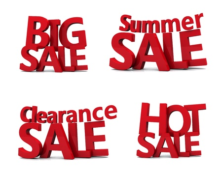 summer sale: Big sale 3d isolated over white background  Stock Photo