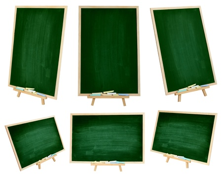 Set chalkboard Vertical and Horizontal isolated on white background  Save Path  photo