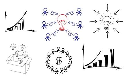 marcador: Idea de bombilla dibujo de negocio concepto de negocio la innovaci�n y la idea conceptual de la imagen