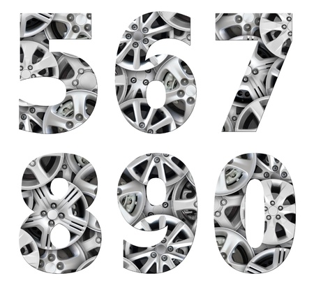 alphabet number steel car alloy photo