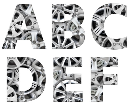 alphabet symbol steel car alloy photo