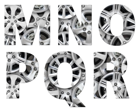 alphabet symbol steel car alloy Stock Photo - 12972907