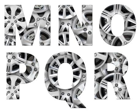 jant: alphabet symbol steel car alloy