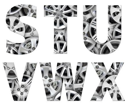 typeset: alphabet symbol steel car alloy