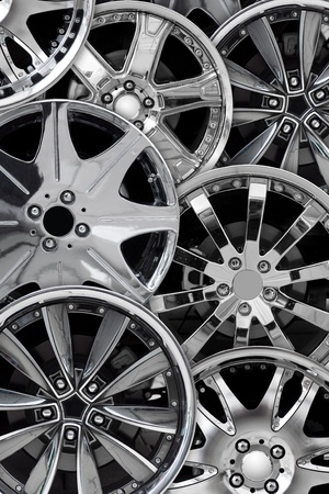 steel alloy car disks background photo