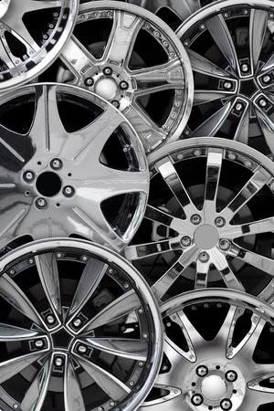 steel alloy car disks background