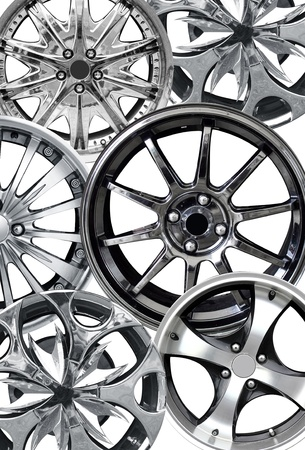 steel alloy car disks over the white background Stock Photo - 12972913