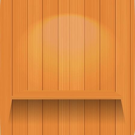 Vector Empty wood shelf  Vector