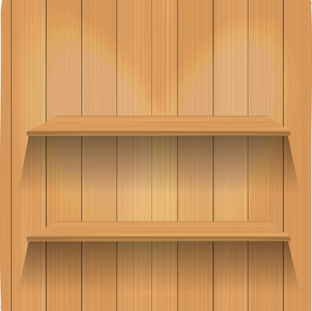 kitchen studio: Vector Empty wood shelf  Illustration
