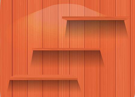 Vector Empty wood shelf Stock Vector - 13107048