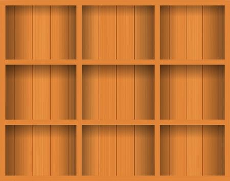 Vector Empty wood shelf. grunge industrial inter Uneven diffuse lighting version. Design component  Stock Vector - 13107060