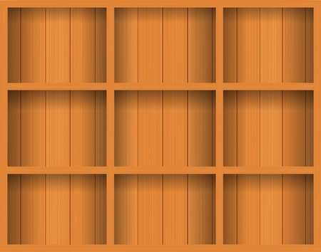 Vector Empty wood shelf. grunge industrial interior Uneven diffuse lighting version. Design component  Vector
