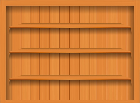 Vector Empty wood shelf. grunge industrial interior Uneven diffuse lighting version. Design component Stock Vector - 13107046