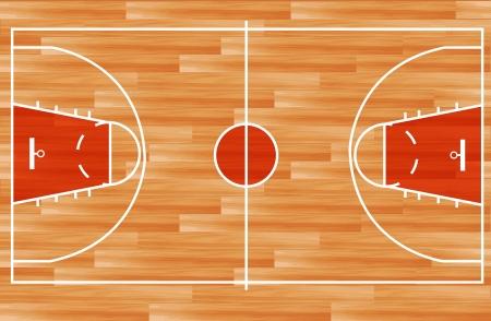canestro basket: In legno parquet da basket vettore