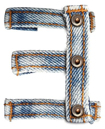 letter of jeans alphabet Number on white background  Save paths  for design work  photo