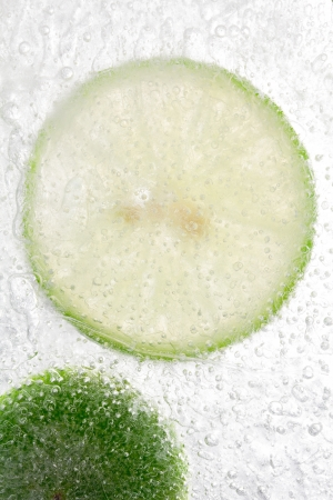 Lemon In Ice background  photo
