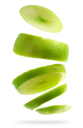 slash: Apple green isolated on white background (Save Paths For design work)  Stock Photo