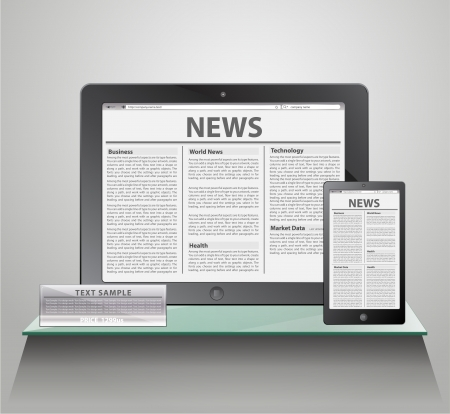 News on generic Tablet PC on shelves   Vector