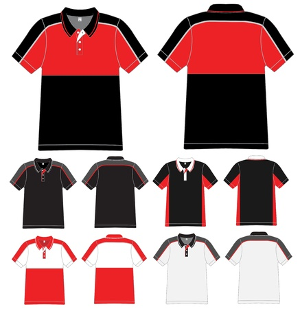 red shirt: polo shirt design Vector template  Illustration