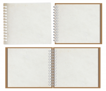 blank notebook isolated on white background Stock Photo - 14196673
