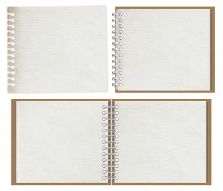 blank notebook isolated on white background Stock Photo - 14196673