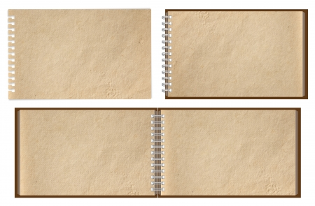 old brown paper notebook horizontal Stock Photo - 14196688