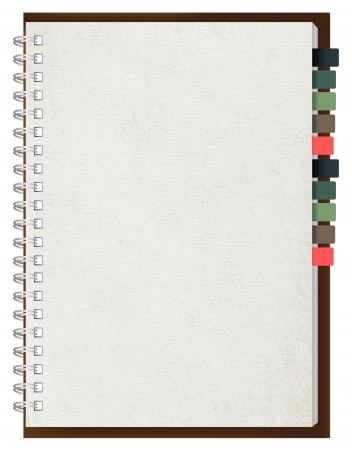 old diary: Old paper notebook vector illustration