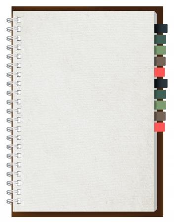 book binding: Old paper notebook vector illustration