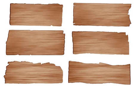 Vector wood plank isolated on white background  Vector