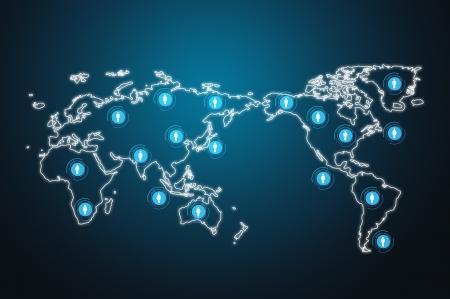 sozialen Netzwerk-Struktur