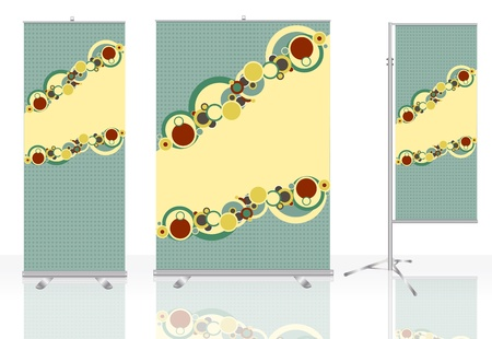 Roll up banner identity background ready for use   Vector