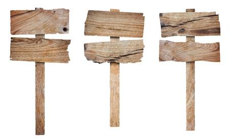minable: Collection de panneau en bois et un �criteau, un isol� sur fond blanc sauvegarder les chemins Pour le travail de conception Banque d'images