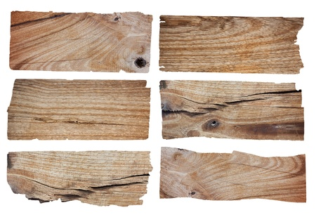 Old Wood plank, isolated on white background  Save Paths For design work   Stock Photo - 14684348
